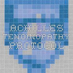 Achilles Tendinopathy protocol