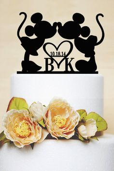 Mickey & Minnie wedding cake topper