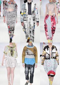 Arts University Bournemouth Graduate Fashion Week 2014    Catwalk Print & Pattern Highlights catwalks