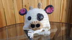 Check out this item in my Etsy shop https://www.etsy.com/listing/463162970/crochet-cow-winter-hat-baby-prop-beanie