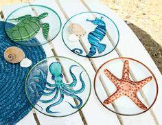 Sea creature plates, with octopus design.
