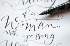 Look at this awesome handlettering done with a fountain pen! The Lamy LX Rose Gold is great for handwriting practice.