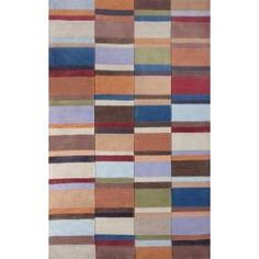 $280 Handmade Alexa Pino Patch Multi Rug (7'6 x 9'6) | Overstock.com