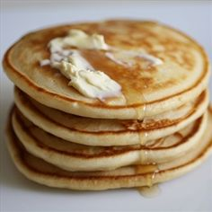 These are the best pancakes. They are just like buttermilk pancakes, but without the buttermilk.  - Fluffy Pancakes