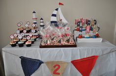 "Photo 7 of 23: Sailor/nautical / Birthday ""Alessandro's Nautical Bday Party!"" 