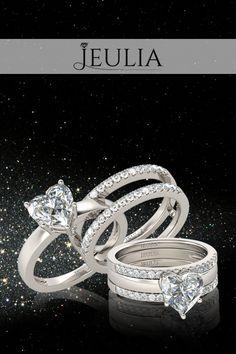 Shining Heart Cut White Sapphire Sterling Silver Women's Ring #jeulia