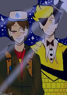My new draw of Billdip (Bill x Dipper) Sorry for my english xd oh! and hope you enjoy ^^ #billdip