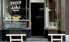 Juice & Salad Cafe | vijzelstraat 135   ♦  EERSTE CONSTANTIJN HUYGENSSTRAAT 60   ♦   AMSTERDAM   ♦   020-330 3114