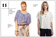 The Flowy Top — Heavy-duty humidity totally stinks, but that's never a reason to forgo a beautiful blouse, even if it is hot as hell. Thanks to the arrival of the sexy, summer-perfect drapey top, you'll be able to keep your cool all day long, no matter what you pair it with.  30 Summer Wardrobe Essentials You Need, Stat #Refinery29