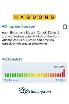 The best word I've seen today on Words with Friends is 'hagdons'. Can you come up with a better one?