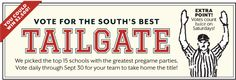 Hey any Herd fans out there. Go online now and vote for Marshall as the South's Best Tailgate!!!