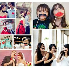 2016 Newest Photo Booth Props 31 Pcs/Set Photobooth For Wedding Birthday Party Photo Booth Props Glasses Mustache Lip On A Stick