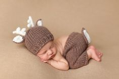 Hartley Deer Newborn Hand Knit Set by TheBlueberryHill on Etsy