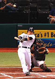Hideki Matsui, of Japan, hits a first-inning, two-run home run off Baltimore Orioles starting pitcher Wei-Yin Chen during a baseball game on Friday, June 1, 2012, in St. Petersburg