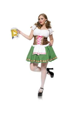 GRETCHEN GIRL PLUS SIZE WOMENS COSTUME - 189475