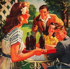 Hospitality with Coke Vintage ad 1948