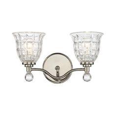 Faceted Glass Vanity Light - 2 Light