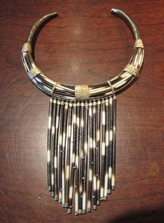 Big African Porcupine Quill Necklace