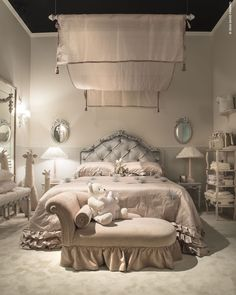 A precious and welcoming bedroom is designed by NOTTE FATATA by SAVIO FIRMINO…