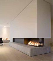 #METALFIRE #Chemineegaz 3 faces foyer ouvert / contemporaine Modèle URBAN 1300-40