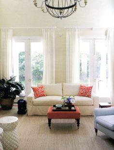 Madeline Weinrib Sunburst Luce Ikat Pillows via Siskin Valls Interior Design
