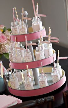Summer baby shower. I love this, but May want to forgo the glass if kids are invited.