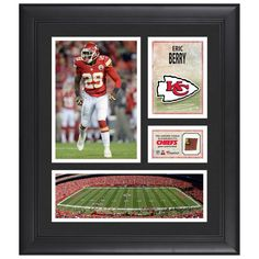 "Eric Berry Kansas City Chiefs Fanatics Authentic Framed 15"" x 17"" Collage with Piece of Game-Used Football - $79.99"