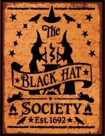 Primitive witch signs halloween sign Witchcraft Black hat Society witches Primitives Wicca Pagan Halloween decorations coven magick cauldron by SleepyHollowPrims, $24.30 USD