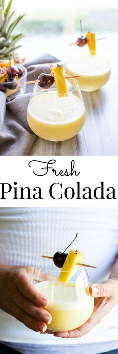 Fresh Pina Colada #Vegan| Vanilla And Bean