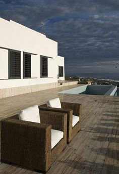 Gallery of AA House / MVN Architects - 9 House Near Beach, International Style, Mediterranean Sea, Outdoor Furniture, Outdoor Decor, The Great Outdoors, Home Projects, Sun Lounger, Outdoor Spaces