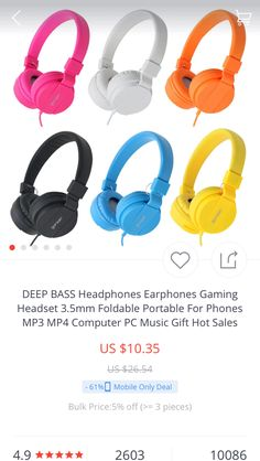 5 star headphone high quality earphone                        https://www.aliexpress.com/store/product/DEEP-BASS-Headset-Music-Stereo-Headphones-Foldable-3-5mm-Wired-Volume-Control-for-All-Phone-4/1628023_32732458669.html?spm=2114.12010615.0.0.SbkYDc