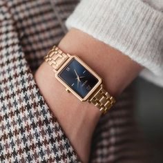 Vincero The Ava Petite Watch in Brushed Rose/Turkish Blue for Women, Size: x 316l Stainless Steel, Square Watch, Natural Leather, Ava, At Least, Rose Gold, Watches, Blue, Accessories