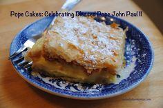 Polish Cream Cakes: JPII's favorite dessert! Making this Sunday to celebrate his canonization.