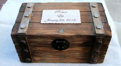 Personalized Card Box Trunk Wine Love Letter Ceremony Anniversary Wedding on Etsy, $79.95