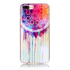 Yangyang Gel Flexible TPU Rubber Case Cover with Art Design [ Slim-Fit, Sleek, Anti-Scratch, Anti-Fingerprint ] For iPhone 7 Plus - 8 Patterns (Dream Catcher Painting)