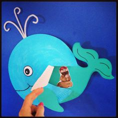 Jonah craft for kids bible lesson, but with the real Jonah Sunday School Crafts For Kids, Bible School Crafts, Bible Crafts For Kids, Sunday School Activities, Preschool Bible, Bible Activities, Preschool Crafts, Kids Bible, Jonah Craft