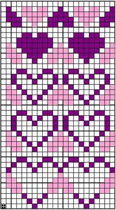 Ideas Knitting Charts Nordic – Oh, les rues de France! Fair Isle Knitting Patterns, Fair Isle Pattern, Bead Loom Patterns, Knitting Charts, Knitting Stitches, Knitting Socks, Baby Knitting, Cross Stitch Patterns, Cross Stitch Heart