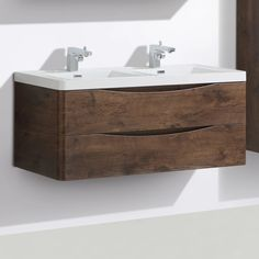 SMILE DOUBLE/SINGLE BASIN WALL HUNG VANITY 1200mm – Kalessi Bathroomware