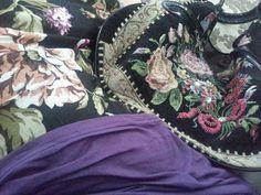 Skirt and bag with purple top