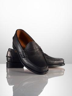 ralph lauren effingham calf penny loafer