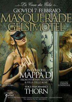 Gelsi Masquerade Motel - Giovedì Grasso di Carnevale