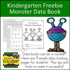 With the shift towards Common Core and higher expectations in kindergarten, many of you may hear you want your school to start using data books for all your students!    Included in this set is:  - Cover page - 4 DIBELS student data pages (bar graphs)including LNF, PSF, and NSW for sounds and word use -  Letter sounds and letter names bar graph where students mark off what letters they know. -  Sight words graph where students track how many words they know as well as write the words in box…