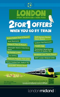 2 for 1 offers in London when you go by train