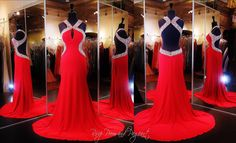 red-jersey-prom-dress-low-open-back-high-beaded-neckline-115jc0545700398 / Rsvp Prom and Pageant, Atlanta, GA