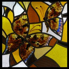 butterfly in stained glass by ~katrele
