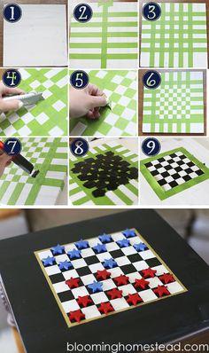 DIY Checkers - Blooming Homestead