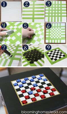 DIY Checkers - Blooming Homestead