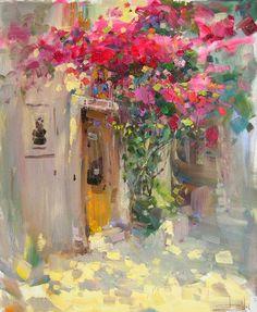 By Vitaly Makarov bougainvillea painting - Pesquisa Google