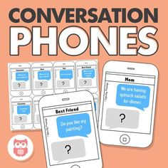 Use these fun conversation phones to work on skills including on-topic comments, asking and answering questions, turn-taking, safety awareness, and more! A great speech therapy activity for social skills. From Speechy Musings.