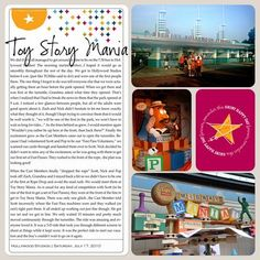 Disney World's Toy Story Mania using Project Life Digital templates and the Cobalt Kit.